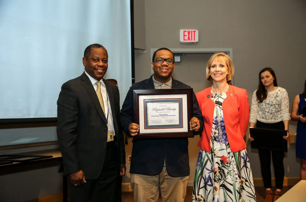 OGPS Diversity Coordinator, Reginald Beasley, awarded mini-grant at annual Diversity, Equity, and Inclusion Symposium