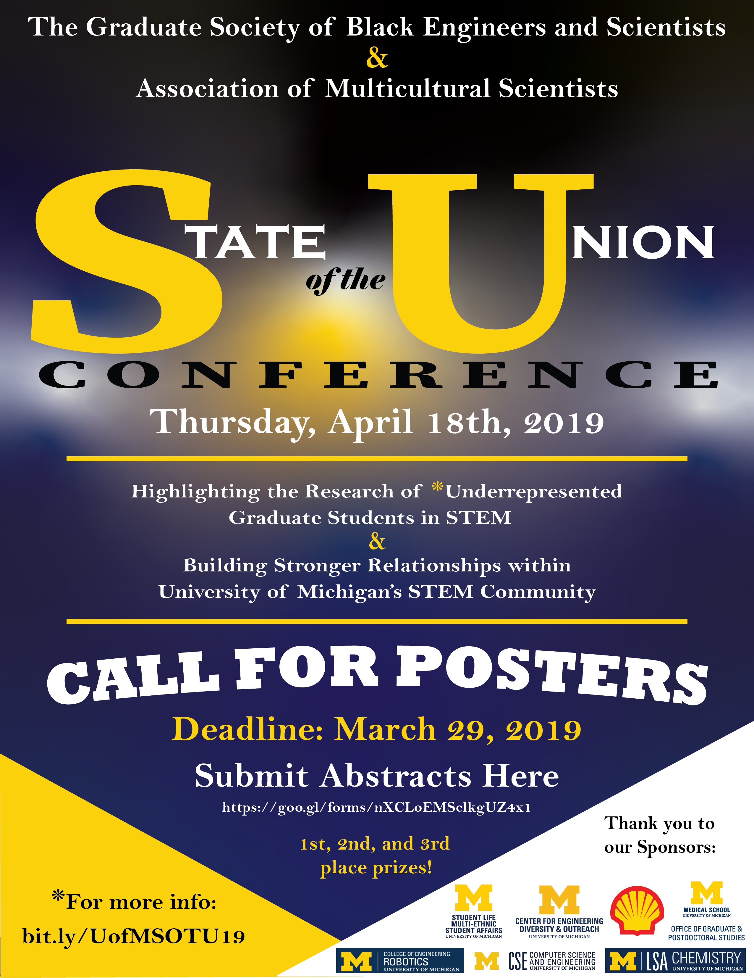 CALL FOR POSTERS! GSBES & AMS State of the Union Conference