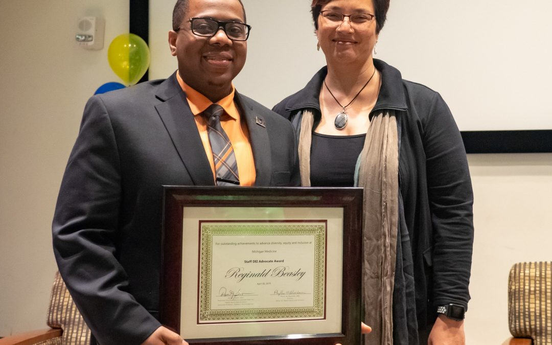 Congratulations to Reginald Beasley – Recipient of the 2019 OHEI Staff DEI Advocate Award