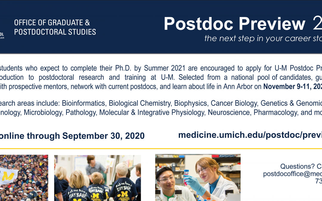 Apply for Postdoc Preview!